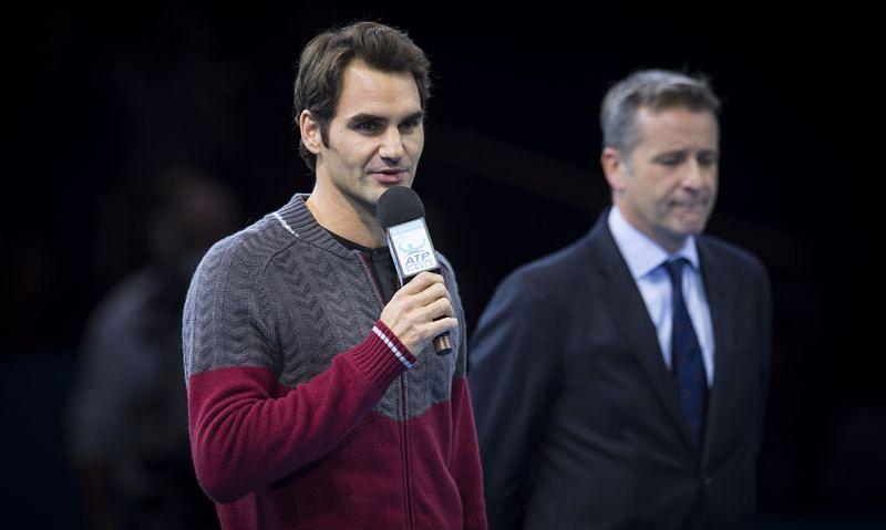 Roger Federer at the 2014 ATP Finals