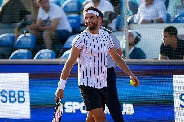 Grigor Dimitrov at Novak Djokovic