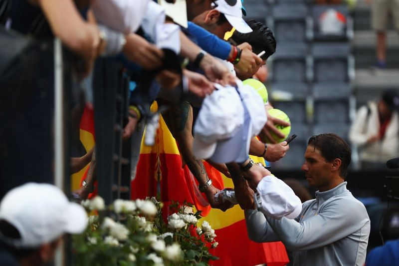 Rafael Nadal will miss the legion of his supporters at Rome this year