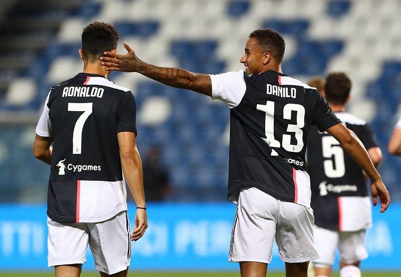 Juventus stars Ronaldo and Danilo
