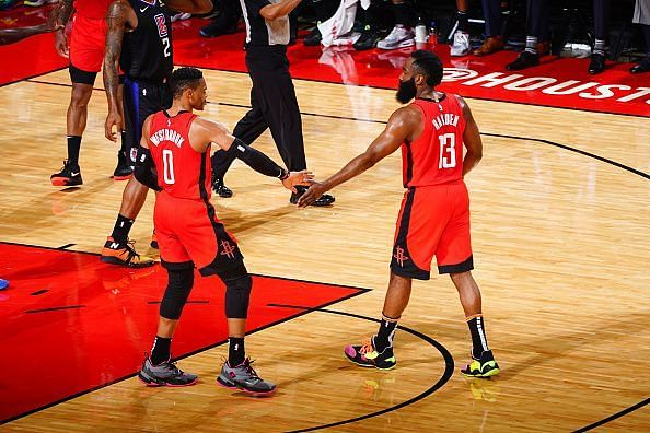 Westbrook and Harden will be key to a victory in today