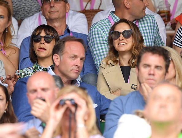 Natalie Portman along with Rashida Jones (L) at one of Serena Williams