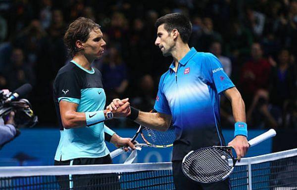 Rafael Nadal (L) & Novak Djokovic (R)