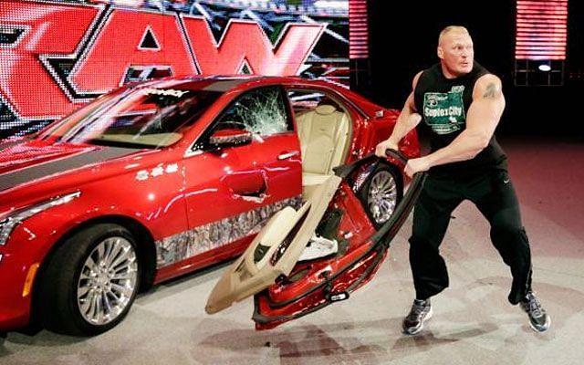 Brock Lesnar destroys J & J Security
