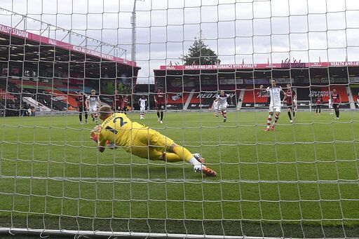Ramsdale saved a penalty in Bournemouth