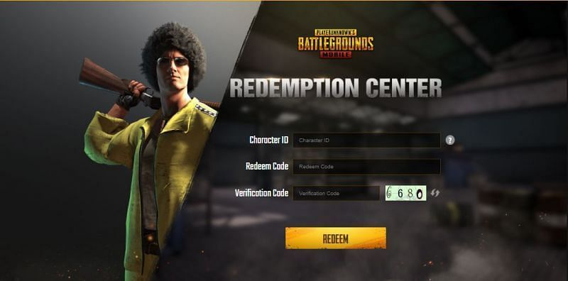Redemption Center on the official website. (Picture Source: pubgmobile.com)