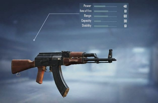 AKM with stats from the loadout