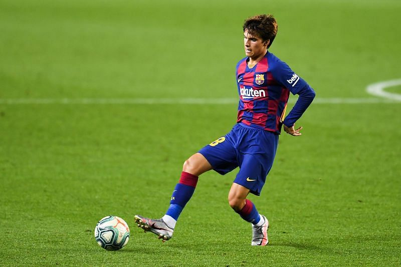Riqui Puig in his most comfortable habitat - with ball at his feet