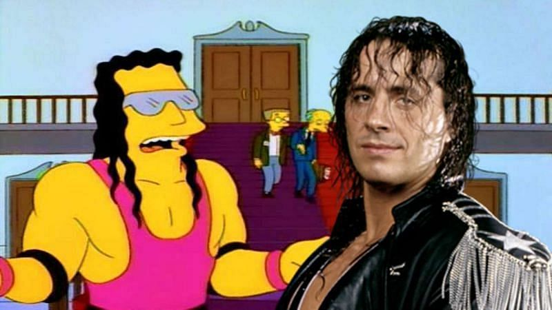 Bret Hart did make a famous cameo appearance in The Simpsons
