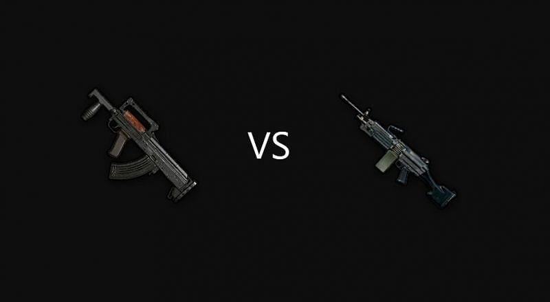 PUBG Mobile: M249 Vs Groza