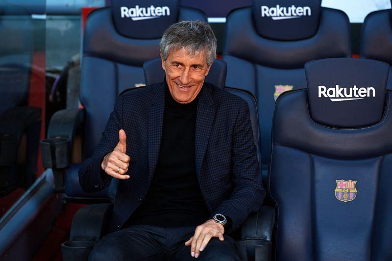 Barcelona Head Coach Quique Setien will look to add to his ranks ahead of next season