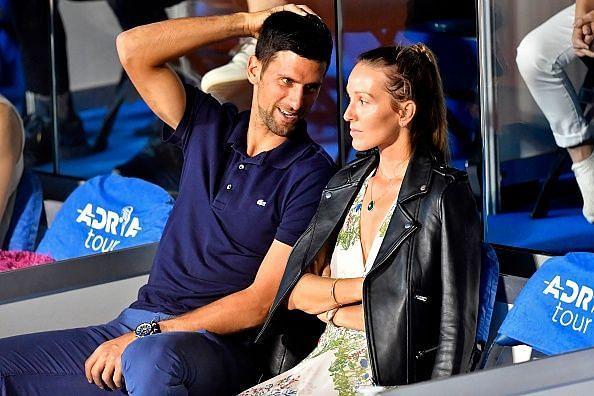 Novak Djokovic and his wife Jelena