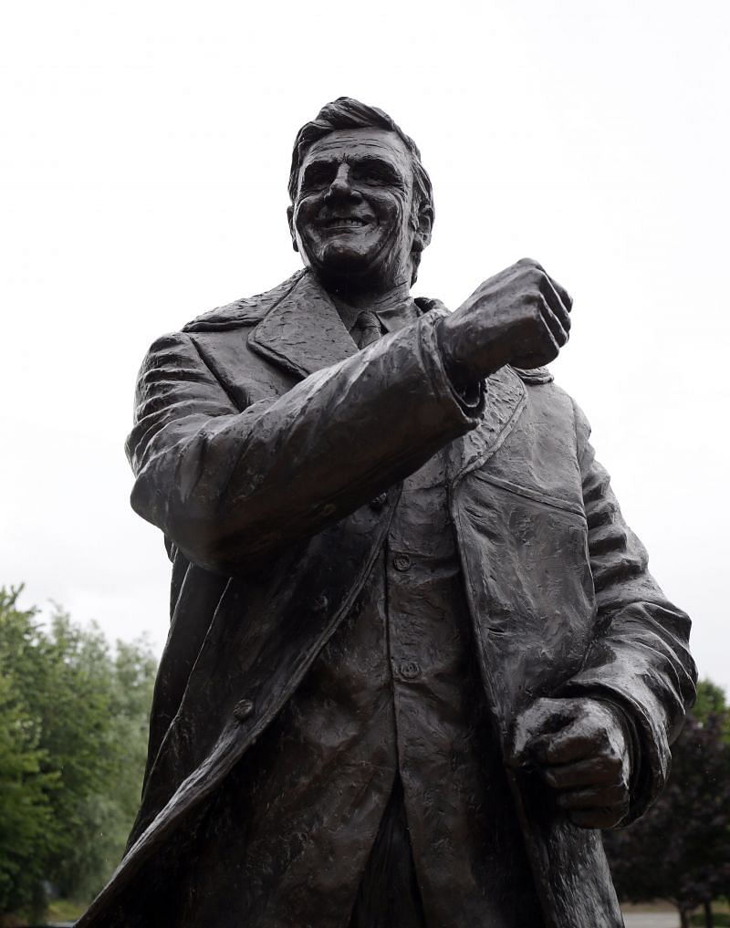 The statue of Don Revie outside Elland Road.