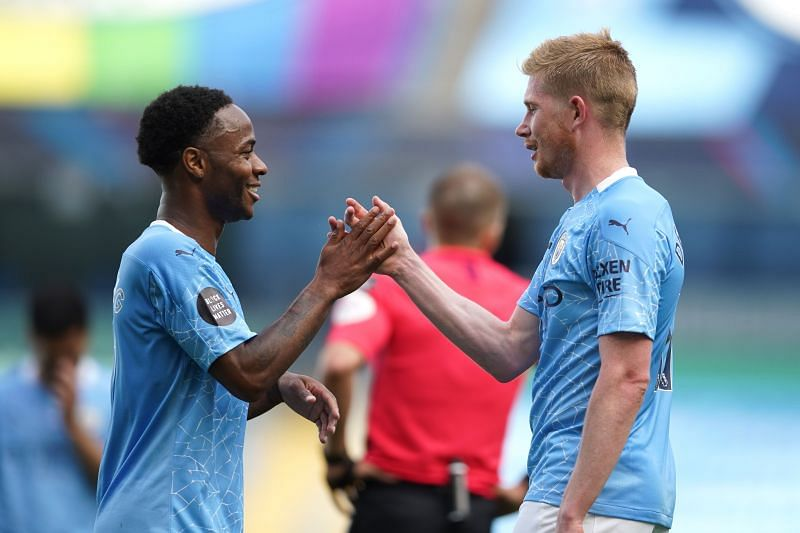 Guardiola went on to coach both Sterling and De Bruyne at Man City