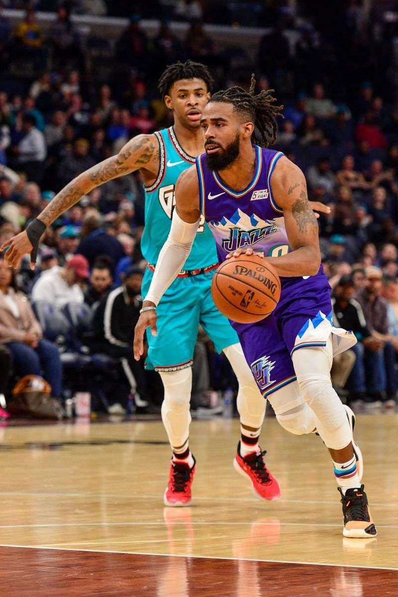 Mike Conley in action for the Jazz