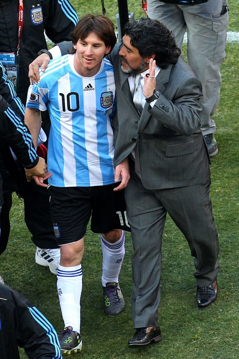 Lionel Messi (left) has to be the creative outlet for Argentina. He has to project himself as an enganche.