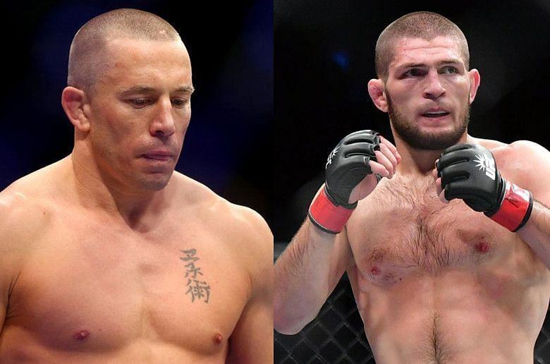 Khabib Nurmagomedov and Georges St-Pierre