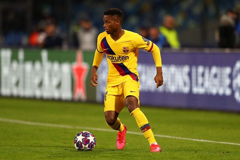Ansu Fati has also been fielded in the Champions League