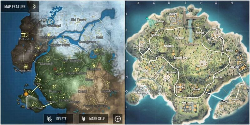 Maps in the games