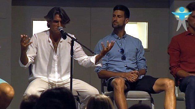 Novak Djokovic with spiritual guru Pepe Imaz