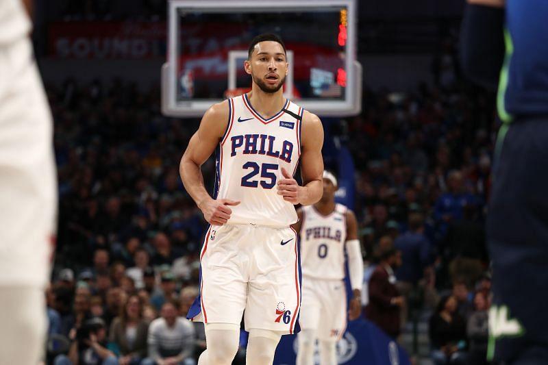 Philadelphia 76ers star Ben Simmons in action