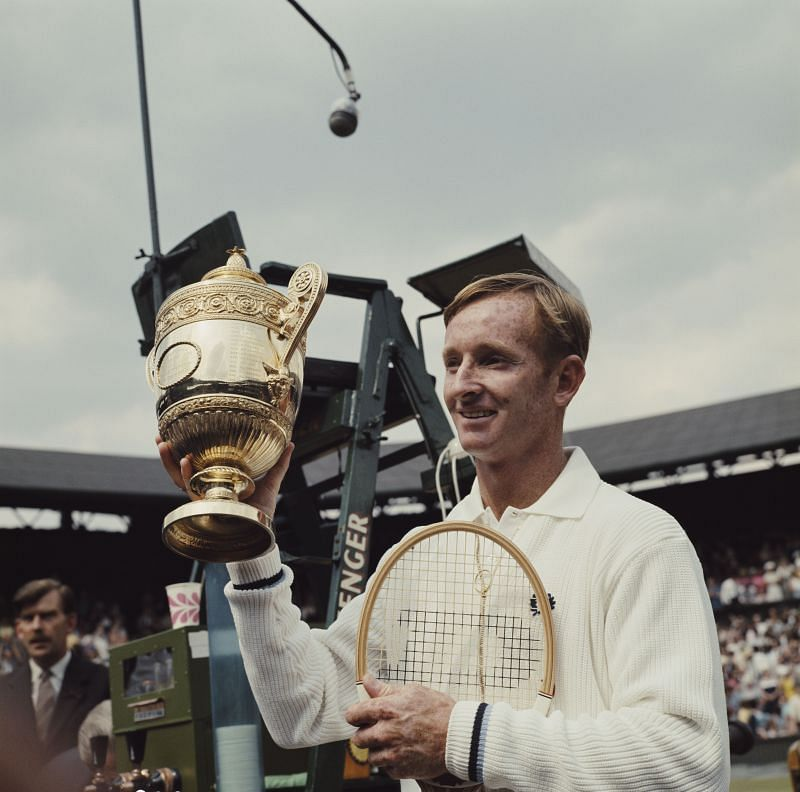 Rod Laver at Wimbledon in 1969.