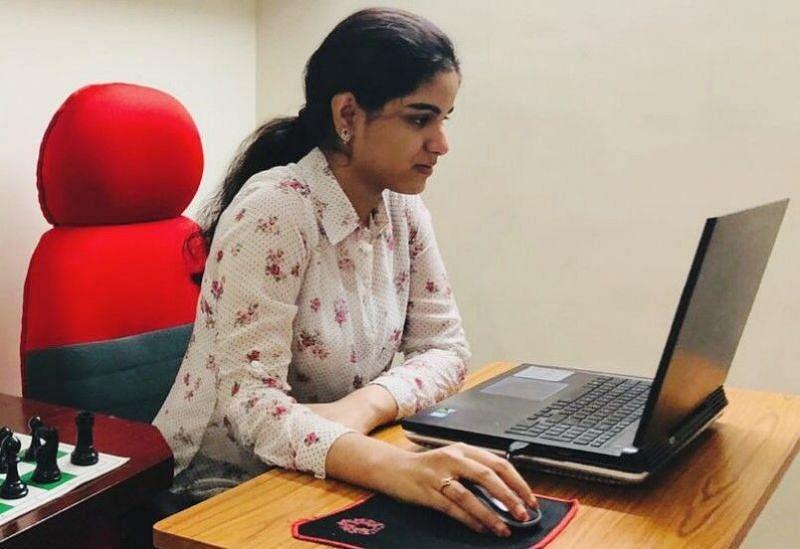 Playing Online in the SPF Invitational 2020! Credits- Priyanka Nutakki Archives