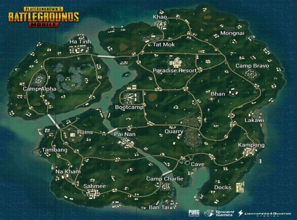 PUBG Mobile Sanhok map, image via daily express