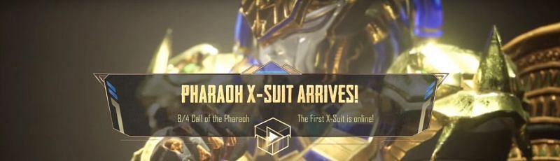 Date of the Pharaoh X-Suit