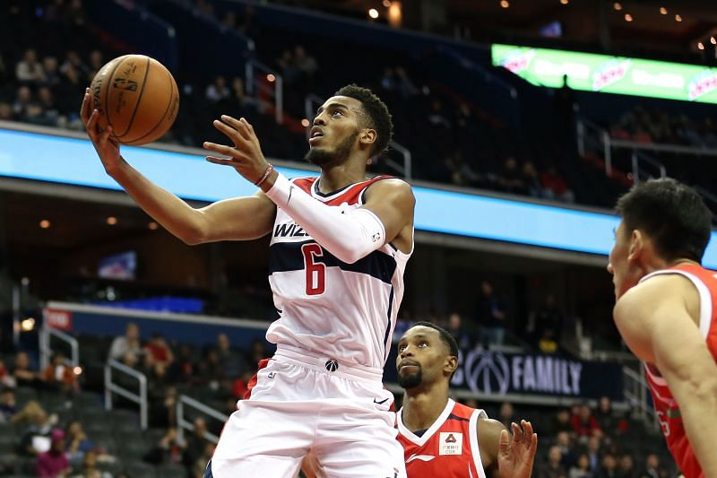 Troy Brown Jr. in action for the Washington Wizards