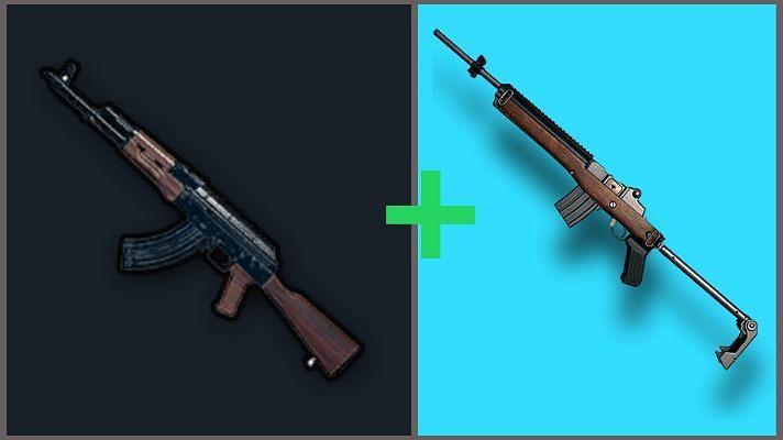 PUBG Mobile'da AKM + Mini 14 silah kombinasyonu