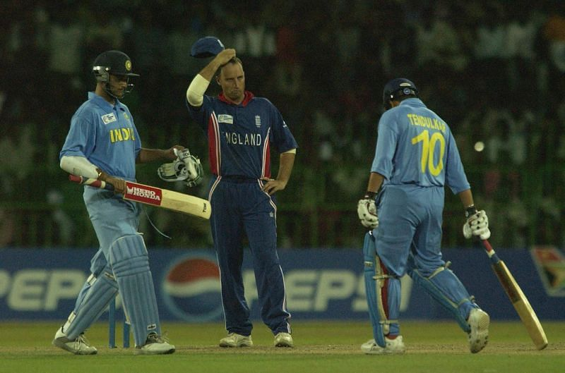 Nasser Hussain of England in a game vs India