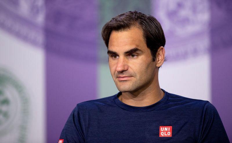 Roger Federer at a post-match press conference at Wimbledon 2018