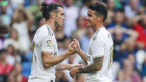 Real Madrid stars Gareth Bale and James Rodriguez