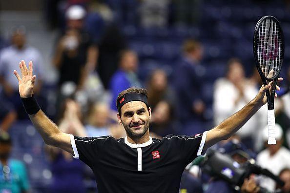 Roger Federer at US Open 2019