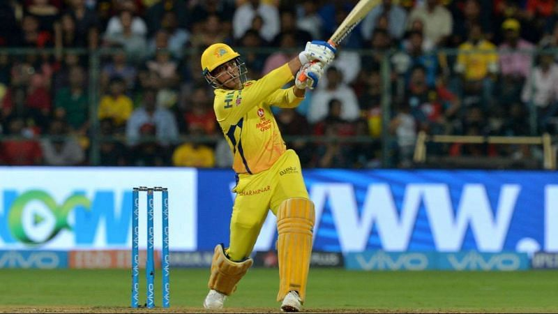 MS Dhoni in CSK colors
