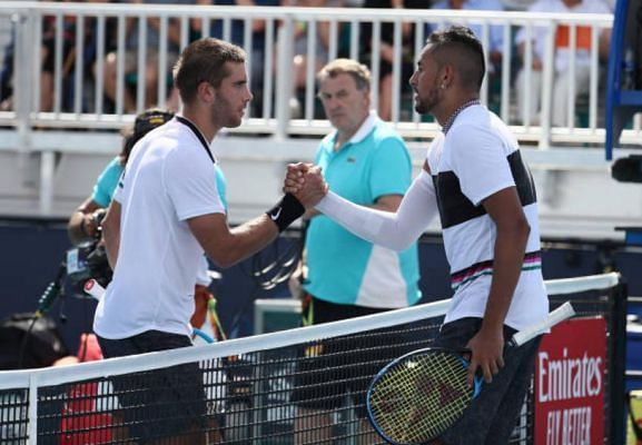 Nick Kyrgios said he finds Borna Coric