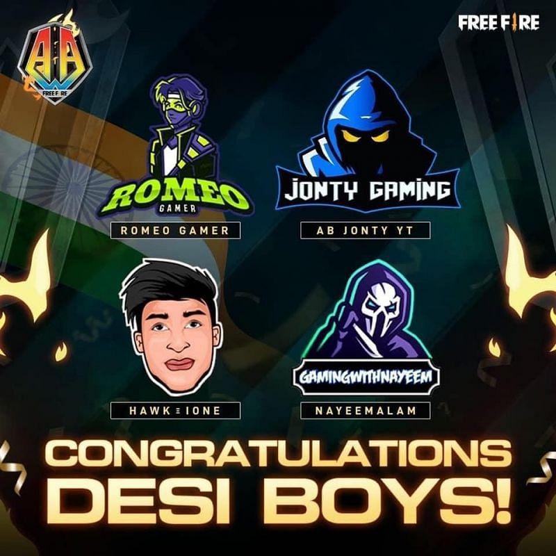 Desi Boys garantiu o terceiro lugar na etapa Influencer All-Stars do torneio