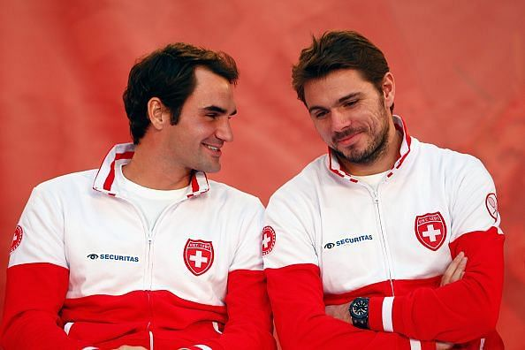 Roger Federer won the Gold Medal with Stan Wawrinka in 2008