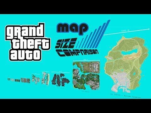 GTA maps ranked on the basis of size (Image Courtesy: YouTube)