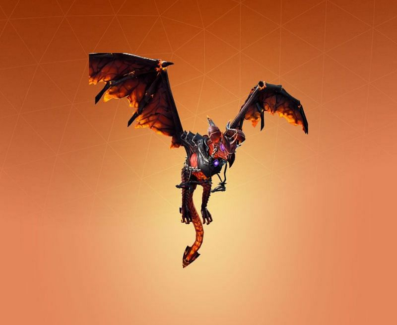 Lavawing Dragon glider in Fortnite. (Image Credit: Pro Game Guides)
