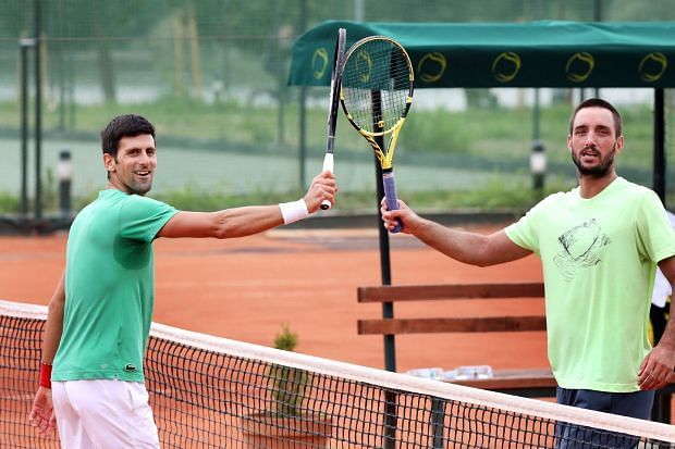 Novak Djokovic with Viktor Troicki