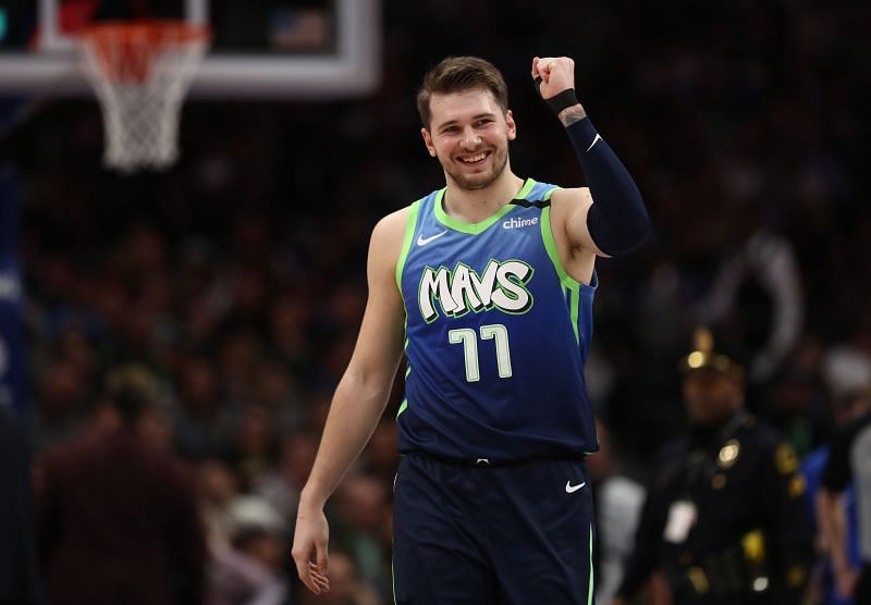 Luka Doncic in action for the Dallas Mavericks