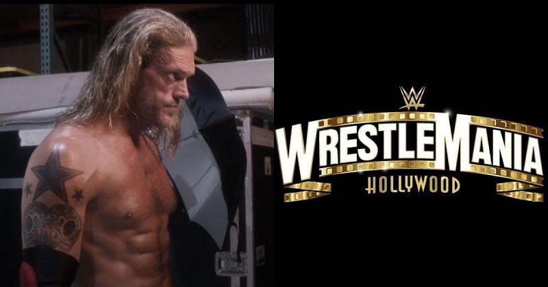 Edge, WrestleMania 37 logo.