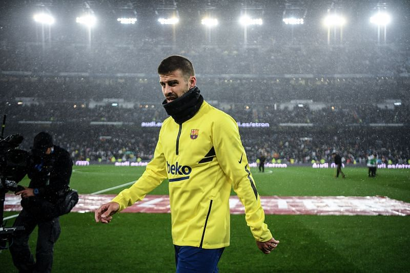 Gerard Pique is walking into the twilight of his career