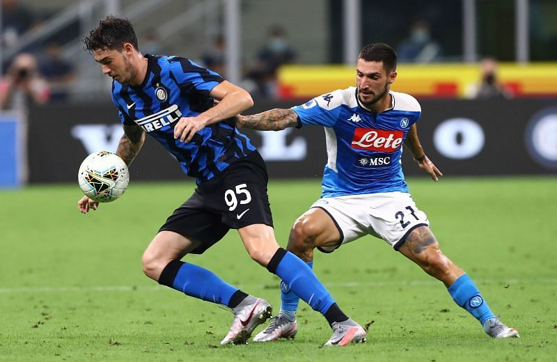 Alessandro Bastoni (left) had another strong showing at the heart of the Inter Milan defence.
