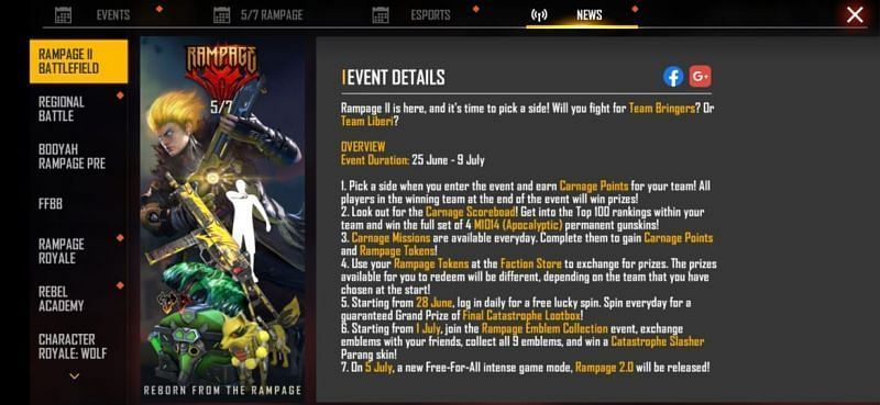 Event Details(Picture Source: Garena Free Fire)