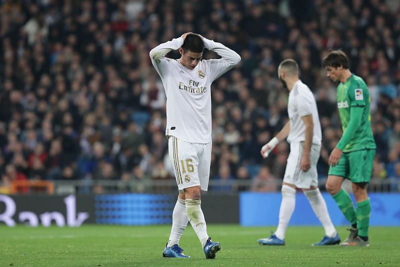 James Rodriguez has endured a poor spell at Real Madrid