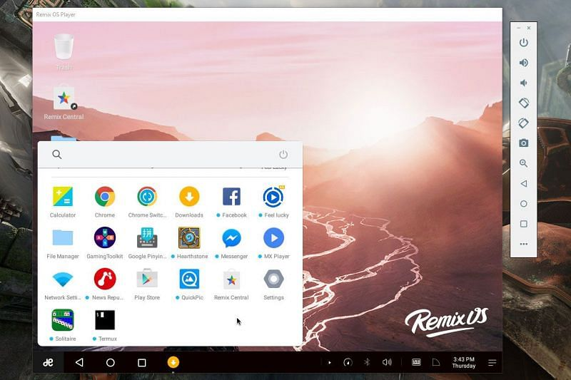 Remix OS Player Enter caption