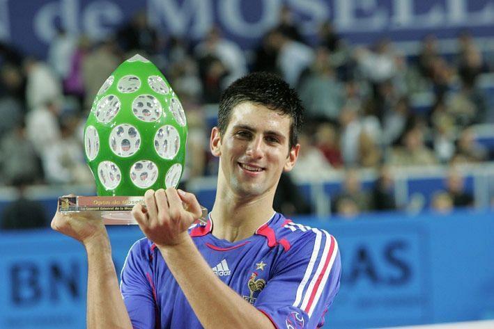 A young Novak Djokovic in 2006